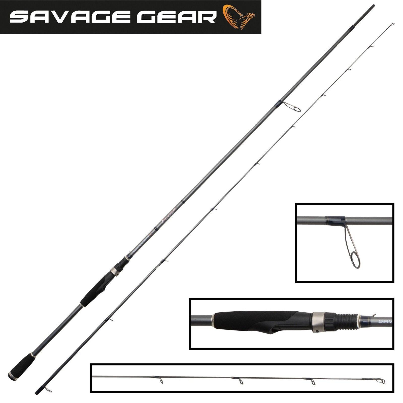 Savage Gear Finezze Softlure Spinnrute 250cm 5-21g Spinnrute Softlure für Gummifisch und Kunstköder 29c523