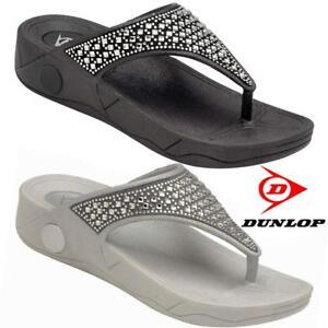 Ladies-Low-Wedge-Heel-Comfort-Walking-Fit-Flip-Flops-Fitness-Toning-Sandals-Shoe