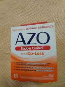 AZO Bladder Control with Go-Less Capsules, 54 Count 08/2021