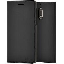 Original Nokia Slim Flip Case Schutz Cover Hülle für Nokia 6 - CP-301 Schwarz