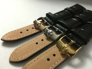 7d09bfb59 GENUINE LEATHER GENTS WATCH STRAPS FOR OMEGA,20MM,BLACK,3 X COLOR ...