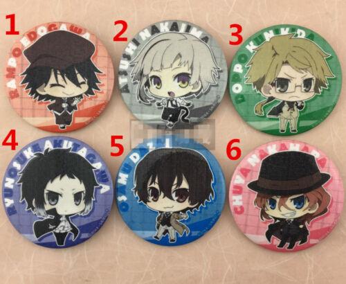 "2.3/"" Anime Bungou Stray Dogs badges Pins Schoolbag 5.8CM"
