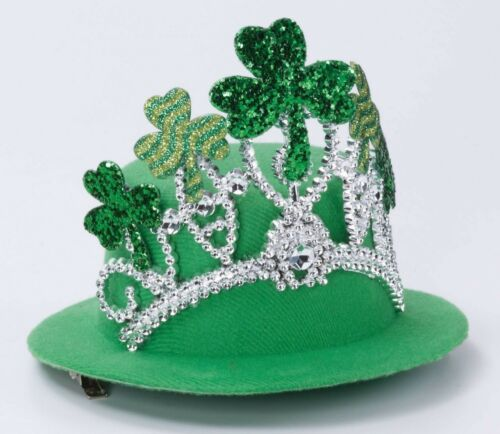 St Patricks Day  Shamrock Tiara Mini Hat Green Mini Hat