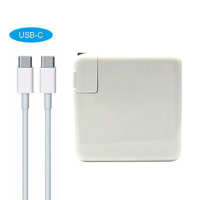 """NEW 87W Type C USB Power Charger Adapter 2M USB-C Cable for Ap Macbook Pro 15/"""""""