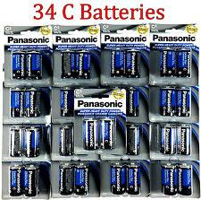 34 Wholesale C Panasonic Battery Batteries Super heavy duty Bulk Lot