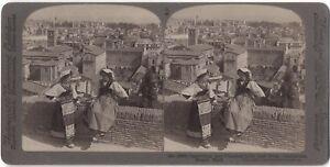 Panorama Da Roma Italia Fotografia Vintage Stereo Stereoview