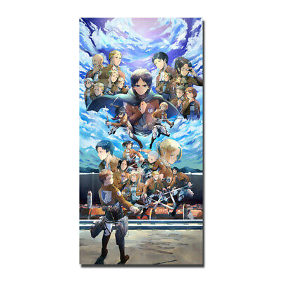 Attack On Titan Hot Anime Silk Poster 13x26 24x48 inch