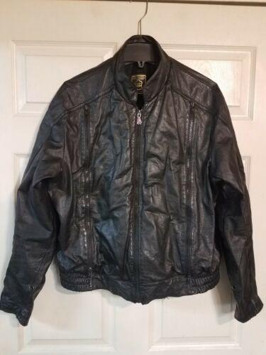 Hein Gericke Mens Black Leather Motorcycle Jacket