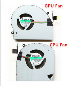 NEW-CPU-Fan-GPU-Fan-Cooling-Cooler-2-Fans-For-Dell-Alienware-17-R4-17-R5-P31E