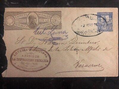 Briefmarken 1896 Mexico Express Hidalgo Postal Ganzsachen Zu Municipal Lotto Veracruz ZuverläSsige Leistung