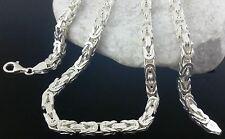 Königskette 925 Sterlingsilber MASSIV Vierkant echt Silber Herren Halskette 65cm