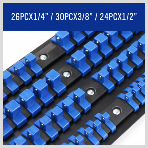 80 industriel ABS montage Douille Stockage Rail rack Titulaire Organiser 1//4 3//8 1//2