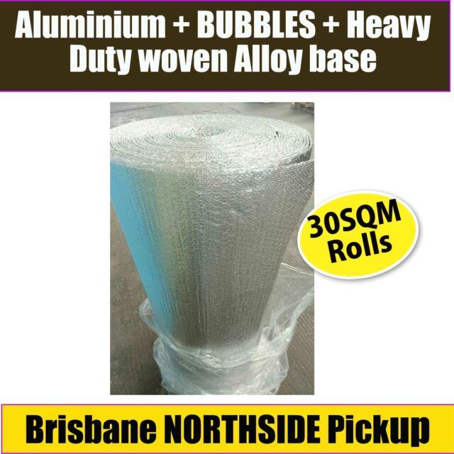 HEAVY DUTY DOUBLE SILVER FOIL BUBBLE INSULATION 30m2 GUARANTEED BEST PRICE