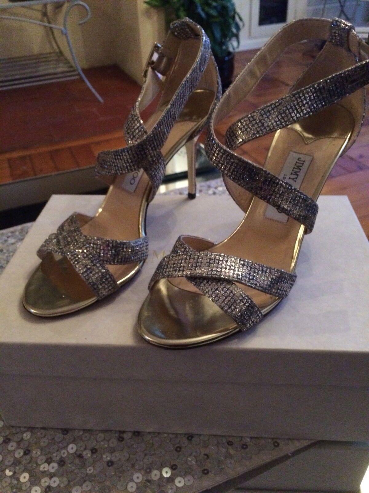 1715daddc2a4e4 les les les chaussures jimmy choo paillettes léopard taille 6   Aspect  élégant 90588a