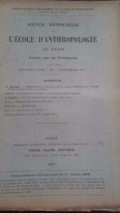 Rivista SCUOLA Antropologia 7 Eme Anni 1897 F.Alcan N°XII ABE