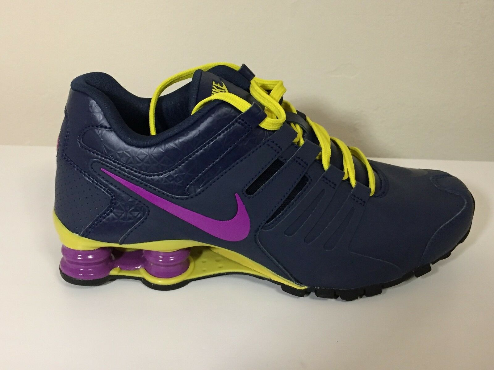 Nike Shox Current Navy Purple Yellow  639657-401 Wmn Sz 7