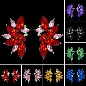 Crystal Rhinestone Angel Wings Drop Dangle Ear Stud Earrings Wedding ... 5c5c6a4e0f50