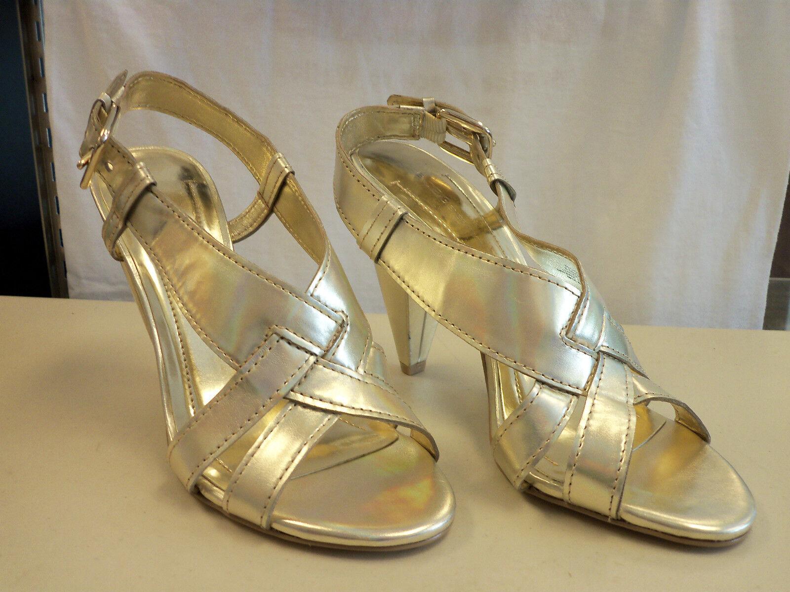 BCBG Generation NEU Store Display Model Damenschuhe Laggo Gold Heels 8.5 M Schuhes