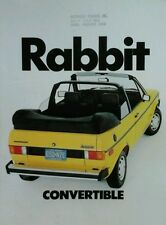 Volkswagen Golf Rabbit Convertible USA Market Sales Brochure  -  1982