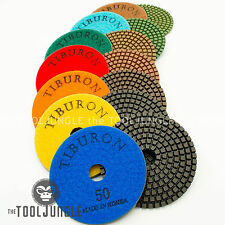 Diamond Polishing Pads 4 inch Set with Backer Made in Korea 3.2mm Thick Granite