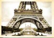 POST CARD OF LOWER PART OF EIFFEL TOWER BUILT FOR WORLD'S FAIR