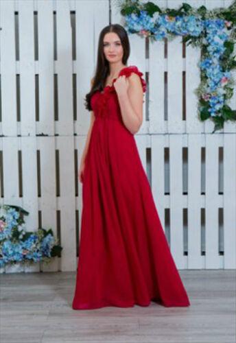 New 1 Shoulder Chiffon Bridesmaid Dress Long Maxi Ballgown Prom Wedding Party UK