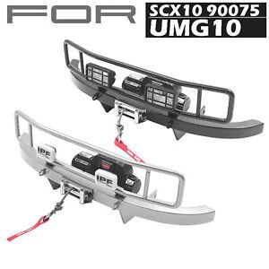Metal-Rancho-Parachoques-delantero-Para-AXIAL-SCX10-90075-UMG10-Unimog-RC-Coche-Modelo-de
