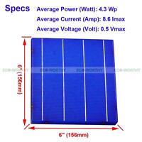 100W DIY Solar Panel - 25Pc 6x6 High Power Solar Cells 4.3W/Pc for Education Kit