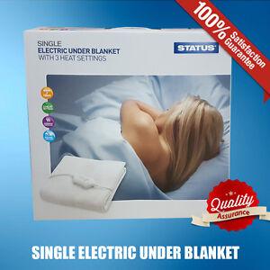 ELECTRIC BLANKET HEATED UNDER BLANKET 3 HEAT SETTINGS SINGLE DOUBLE KING SIZE UK