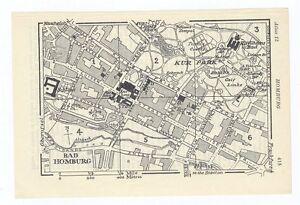 Bad Homburg Germany Map.1933 Original Vintage City Map Of Bad Homburg Hesse Hessen