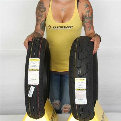 120//90 17 2 Tires 170//80 15 Dunlop D404 Black Wall Front /& Rear Tire Kit
