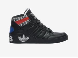 adidas hard court hi black and white