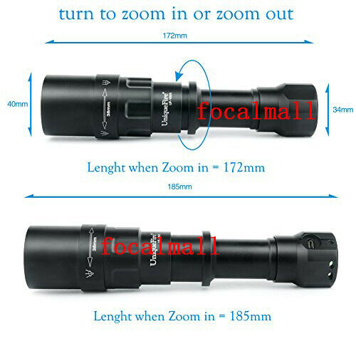 UniqueFire 1605 940nm IR USB Rechargeable Zoomable Flashlight Pressure Switch