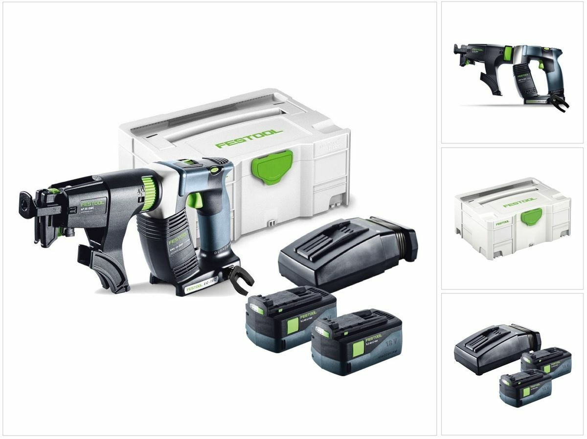 Festool DWC 18-4500 LI Plus Akku Bauschrauber DURADRIVE + Magazinvorsatz 574745