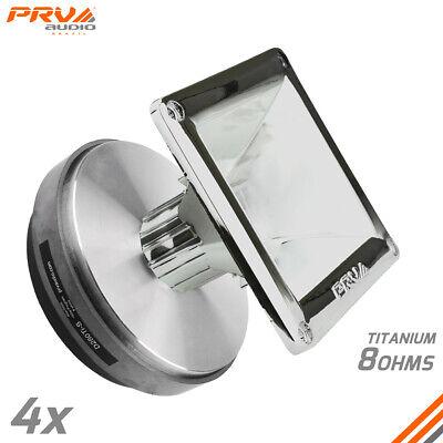 "WG11-25 Chrome Horns 4x PRV Audio D280Ti-S 1/"" Compression Driver"