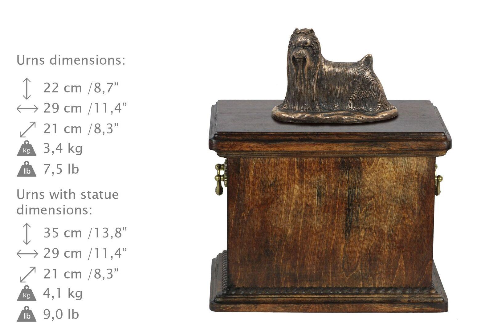 Yorkshire Terrier - wooden urn with dog statue, Art Art Art Dog type 1 3c15d5