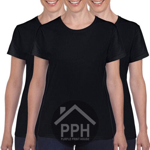 3 Pack Gildan Heavy Cotton Plain Ladies Womens Girls T Shirts Sale Top Wholesale