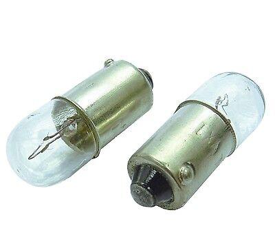 10x Ba9s T4W Metall Sockel Glas Lampe Lima 12V 4 Watt