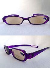 +2.50 Purple Slim Tinted Reading Glasses Ready SUN Readers +2.5 M
