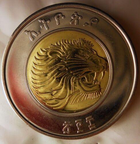 AU 2002 ETHIOPIA BIRR Great Coin AFRICAN LION BIN #GGG FREE SHIPPING