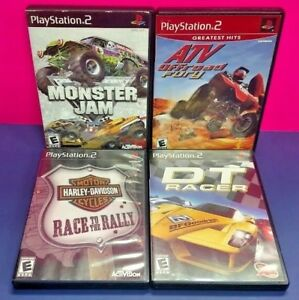 DT-Racer-ATV-Fury-Monster-Jam-Harley-Race-PS2-Playstation-2-COMPLETE-Game-Lot