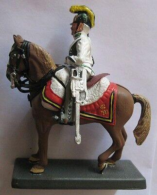 Serio Guerre Napoleoniche -ufficiale Austriaco - Interessante Soldatino Dipinto A Mano