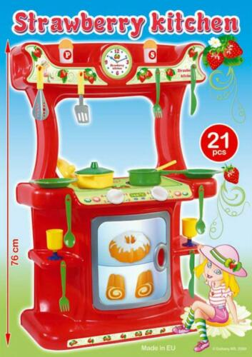 19-tlg TOP Zubehör Strawberry Spielküche Kinderküche EXTRA groß 76cm EU-WARE