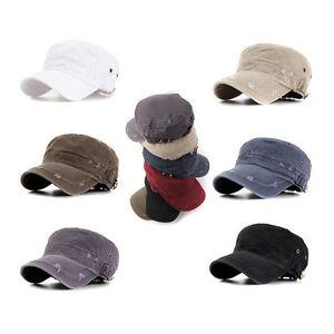 La imagen se está cargando Vintage-estilo-Hombre-Mujer-Gorra-Militar-Cadete- Sombrero- 37b30899b03