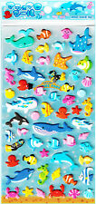 Mind Wave Marine Swim Puffy Kawaii Sticker Sheet