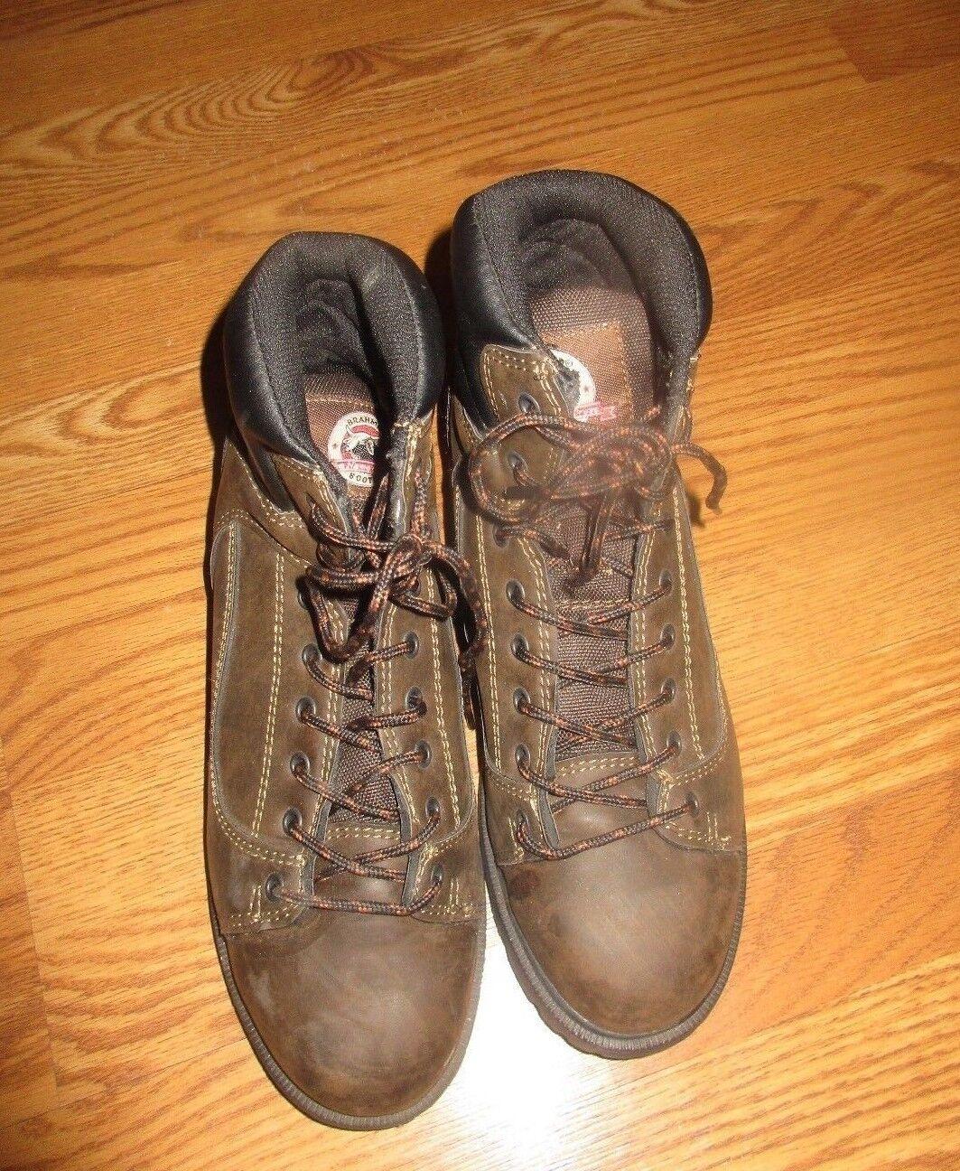 Men's BRAHMA Brown Leather WORK Boots  RAMBLER