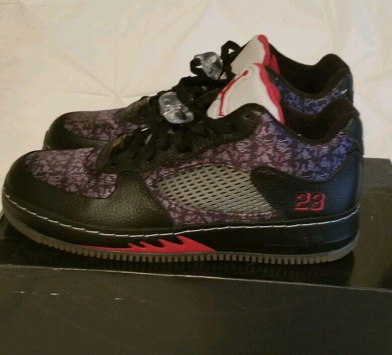 Nike air Jordan Fusion Ajf 5 Low Black Red Size 12 (325331 001)