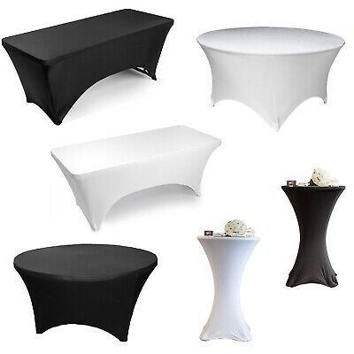 Lycra Spandex Stretch Wedding Party Tablecloth Cocktail Round Rectangular Cover