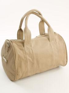 Bowling-Cube-Bag-Damen-Hand-Henkel-Trage-Tasche-KHAKI-Design-by-LYDC-396K