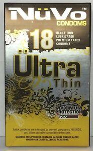 Amazon.com: 2 Packs Nuvo Condoms Ultra Thin Lubricated